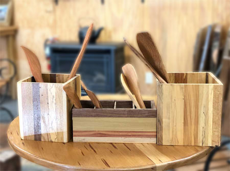 Photo of wooden spoons